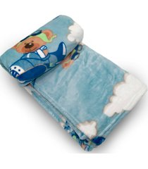 cobertor bebe prime flannel hazime dumont azul - kanui