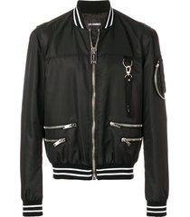 les hommes hardware bomber jacket - black