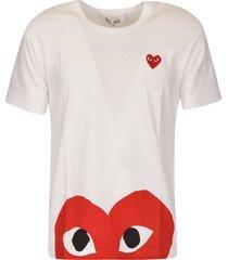 comme des garçons signature logo heart t-shirt