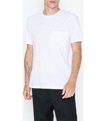 selected homme slhper ss o-neck tee b t-shirts & linnen vit