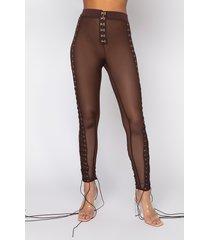 akira rough around the edges mesh lace up leggings