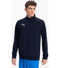 liga sideline poly core voetbaljack voor heren, blauw/wit, maat l | puma