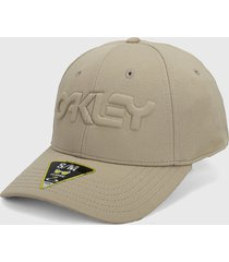 gorra beige oakley stretch hat embossed