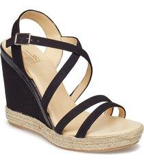 espadrilla 8941 sandalette med klack espadrilles svart billi bi