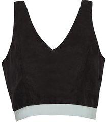 bluzka - top parotia czarny
