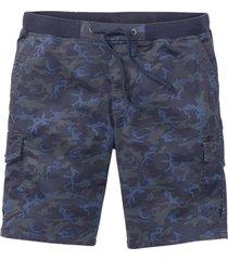 bermuda cargo con cinta a costine loose fit (blu) - rainbow