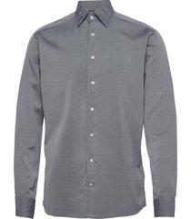 slim fit business casual indigo shirt overhemd casual grijs eton