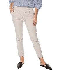 pantalón violette color siete para mujer  - beige