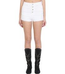 iro bastil shorts in white cotton