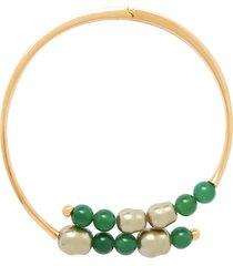 beaded hinged choker necklace