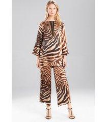zepajamas, women's, beige, 100% silk, size l, josie natori