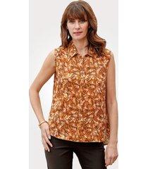 blouse mona okergeel::bruin