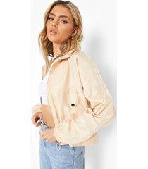 lichte jas met zakdetail, camel