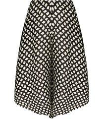pleats please issey miyake printed flared shorts - black