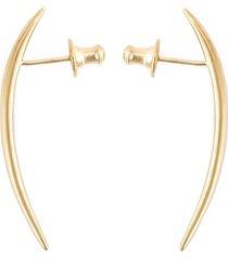 shaun leane short 'quill' earrings - metallic