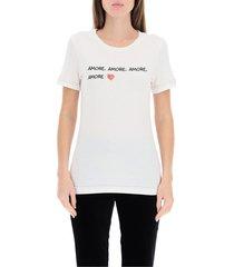 t-shirt met logo borduursel liefde