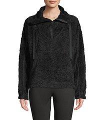 big sky faux fur pullover