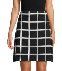 double windowpane check skirt