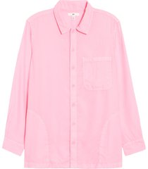 bp. be proud by bp. gender inclusive button-up shirt, size 4x-large - pink