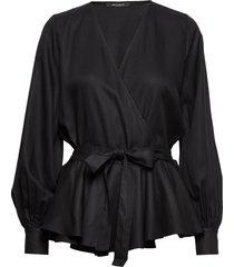 pralenza silvine blouse blouse lange mouwen zwart bruuns bazaar