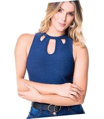 camiseta adulto femenino azul navy marketing personal