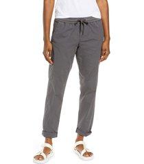 women's l.l.bean women's ripstop pull-on pants, size x-large - grey