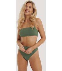 na-kd lingerie trosa med hög midja - green