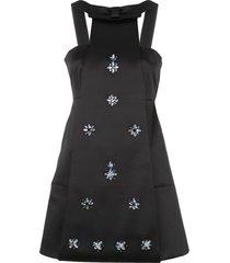 alexis zeah floral beaded dress - black