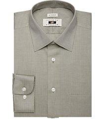 joseph abboud olive herringbone dress shirt