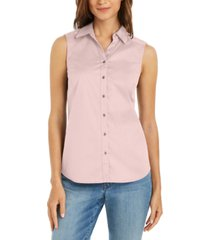 charter club button-front top, created for macy's
