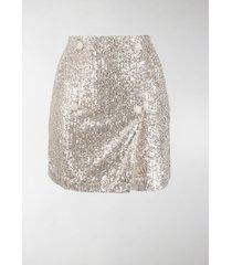 rotate london sequin-embellished mini skirt