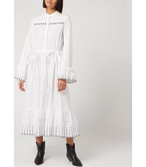 see by chloé women's poplin dress - white - eu 36/uk 8