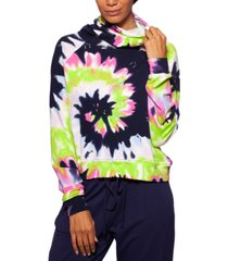 bam by betsy & adam tie-dyed pullover top with attached mask, created for macy's