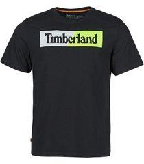 t-shirt korte mouw timberland ss kennebec river puffed jersey crew linear regular