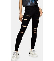 black super rip belt loop joni skinny jeans - black