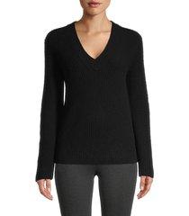 vince women's shaker rib-knit cashmere sweater - hazel - size m