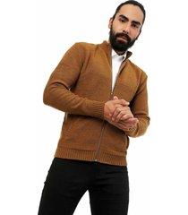 chaqueta colmena jersey giive - sha077-gris claro-mostaza jasped