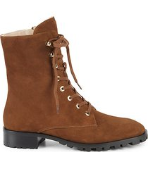 norrie suede lace-up booties
