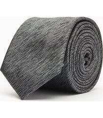 krawat gładki grafit 100