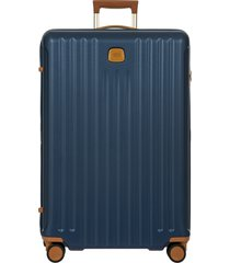 men's bric's capri 2.0 30-inch expandable rolling suitcase - blue