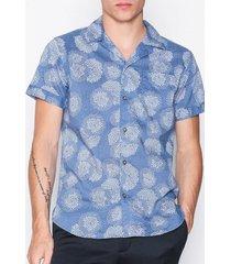 selected homme shntwoflash shirt ss mix skjortor mörk blå