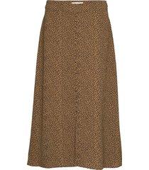 atlas print skirt rok knielengte bruin modström