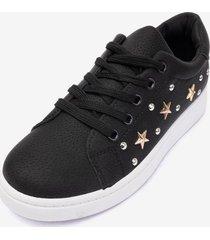zapatilla estrella mujer black chancleta