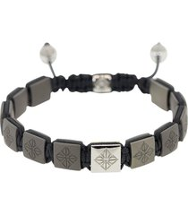 matte grey ceramic lock bracelet