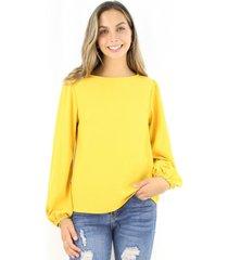 blusa pascuala mostaza jacinta tienda