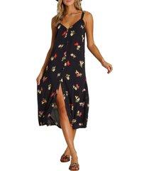 women's billabong sweet edges midi dress, size x-small