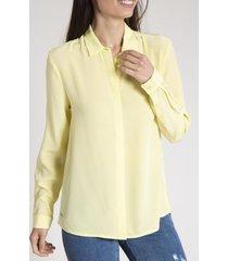 blusa mujer isabel seda amarillo rockford