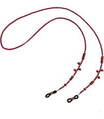 cadena para gafas cristal rojo