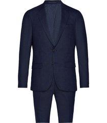 bs abruzzo slim, suit kostym blå bruun & stengade