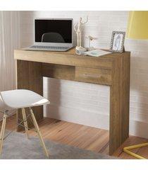 mesa escrivaninha cooler 1 gaveta pinho - artely